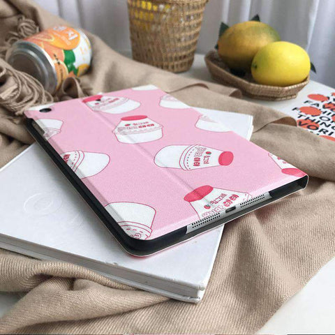 Contracted Milk Bottle Painted Apple iPad Cover Case gallery 4