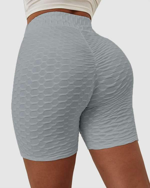 Solid Textured Hip Lifting Shorts gallery 8