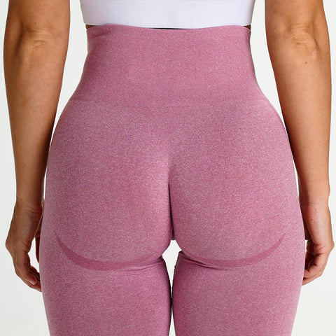 High Waist Butt Lifting Breathable Seamless Workout Leggings gallery 10