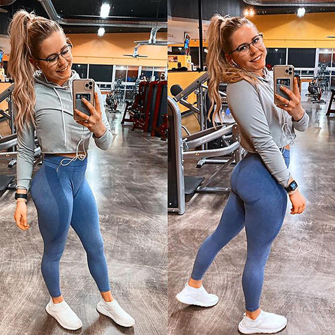 High Waist Butt Lifting Breathable Seamless Workout Leggings gallery 13