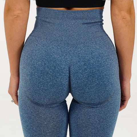 High Waist Butt Lifting Breathable Seamless Workout Leggings gallery 12