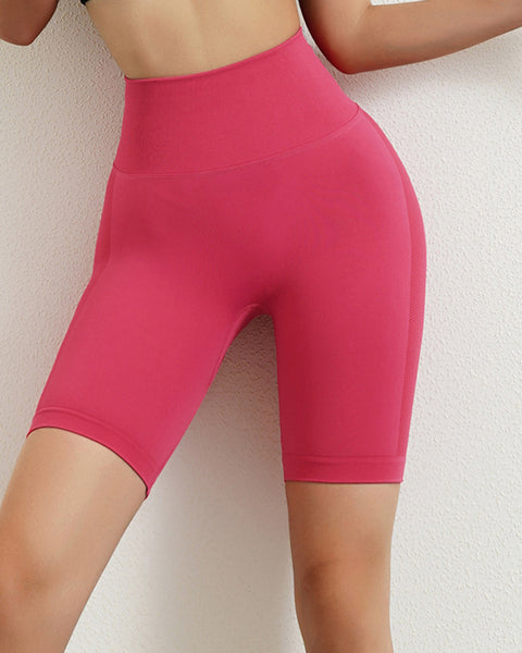 Space Dye Textured Seamless Butt Lifting Sports Shorts gallery 2