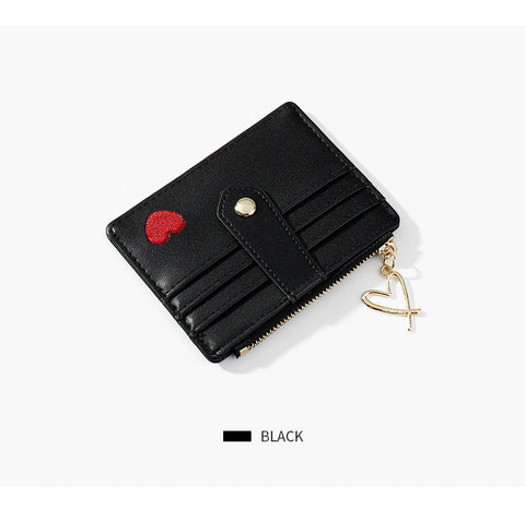 Heart Print Leather Card Holder gallery 11