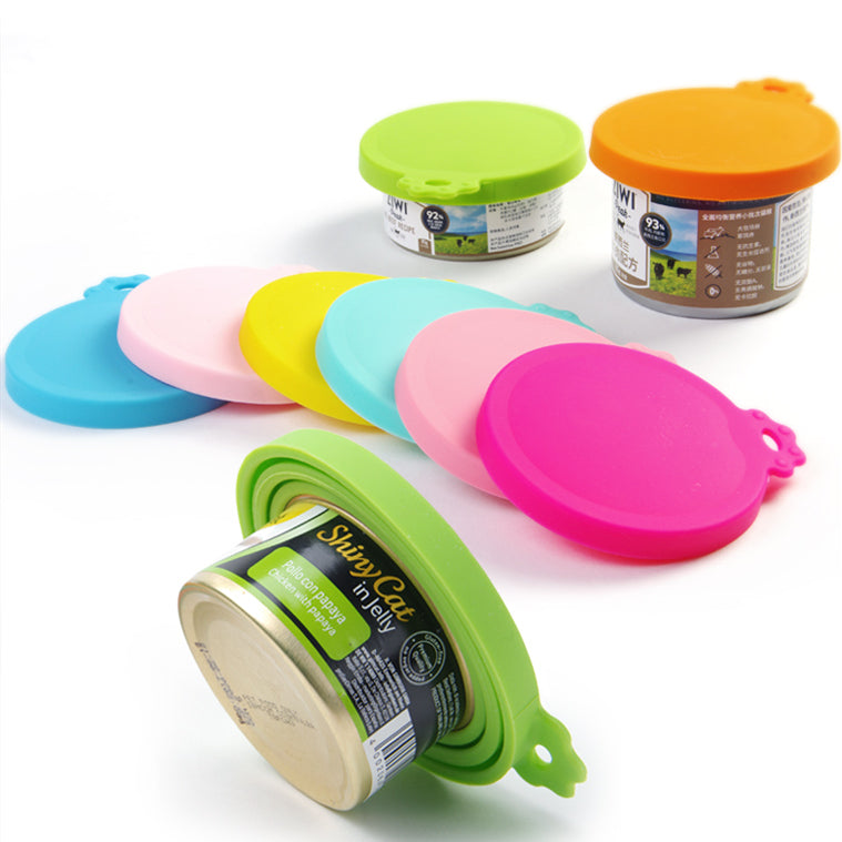 Silicone Cat Food Can Cover & Spoon