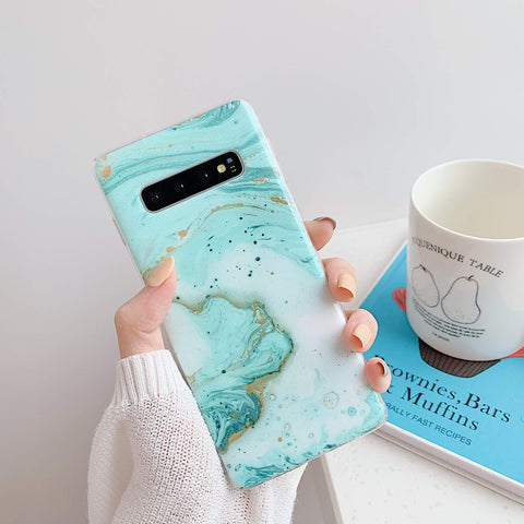 Matte Pebbled Marble Phone Case for Samsung gallery 8