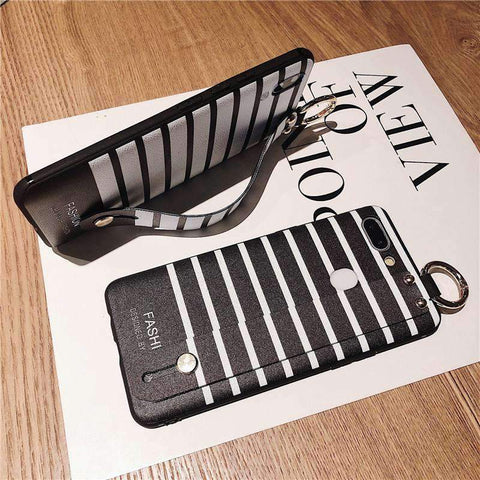 Contracted Striped Samsung Case with Wristband