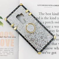 Luxury Blinking Square Phone Case for Samsung with Phone Holder