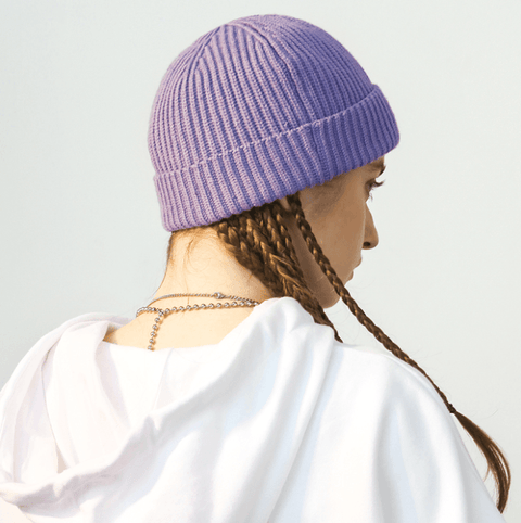 6 Colors Rib Knit Cuffed Beanie Hat With Tag gallery 4