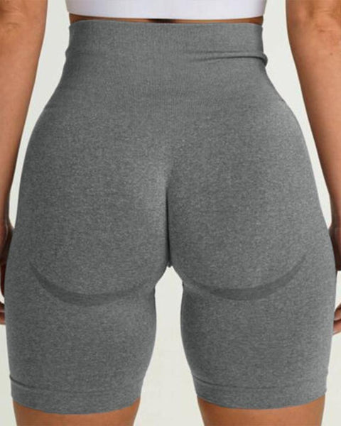 Beauty Contour Wide Waistband Sports Shorts gallery 7