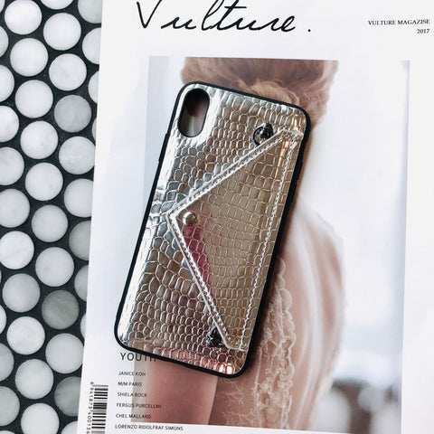 Pure Color Leather Phone Case For All iPhone with Card Purse