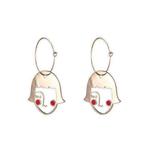 Blush Girl Hoop Earrings