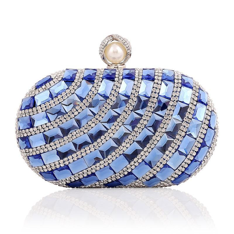 Crystal Stone & Rhinestone Evening Bag Clutch Purses