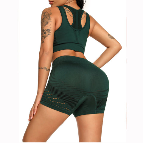Contrast Hollow Out Seamless Sports Shorts gallery 4