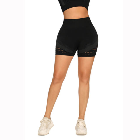 Contrast Hollow Out Seamless Sports Shorts gallery 12
