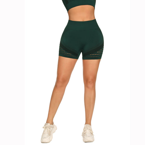 Contrast Hollow Out Seamless Sports Shorts gallery 11