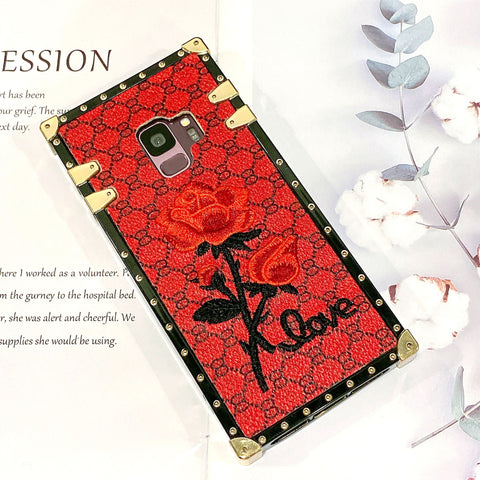 Rose Embroidered Phone Case for Samsung with Hand Strap gallery 3