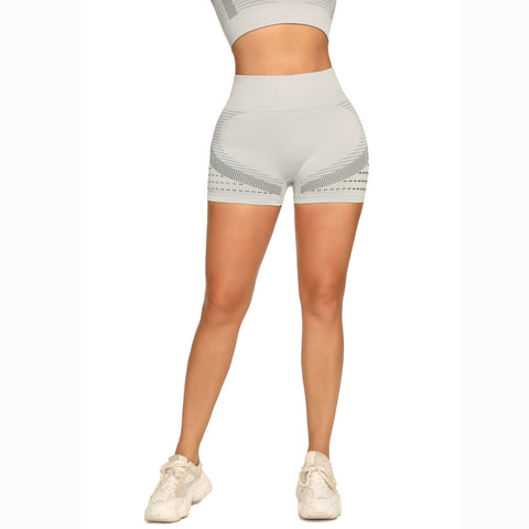 Contrast Hollow Out Seamless Sports Shorts gallery 9
