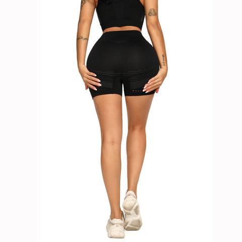 Contrast Hollow Out Seamless Sports Shorts gallery 14