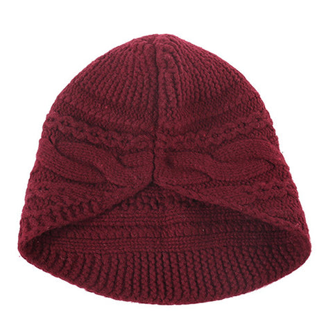 Solid Cable Knit Wool Beanie Hat gallery 5
