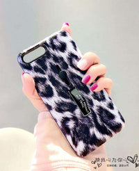 Luxury Leopard iPhone Case with Ring