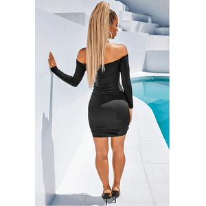 Shape 3 Colors Ruched Bardot Bodycon Dress