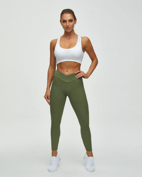 High Waist Butt Lifting Seamless Textured Leggings gallery 6