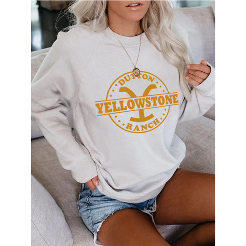 Yellowstone Graphic Round Neck Sweatshirt