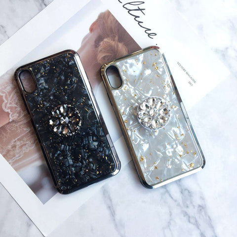 Luxury Shell Pattern iPhone Case with Phone Holder