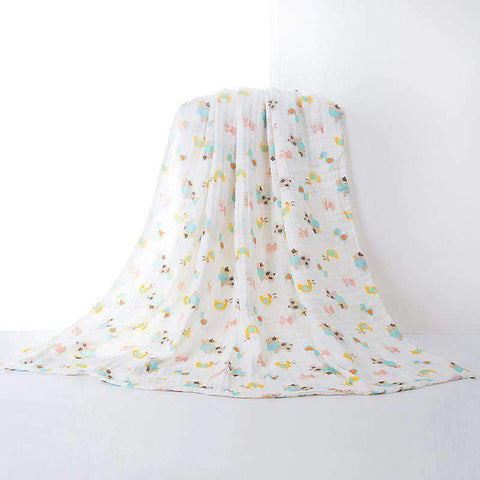 Muslin Swaddle Blankets With Cute Baby Friendly Cartoon Prints gallery 2