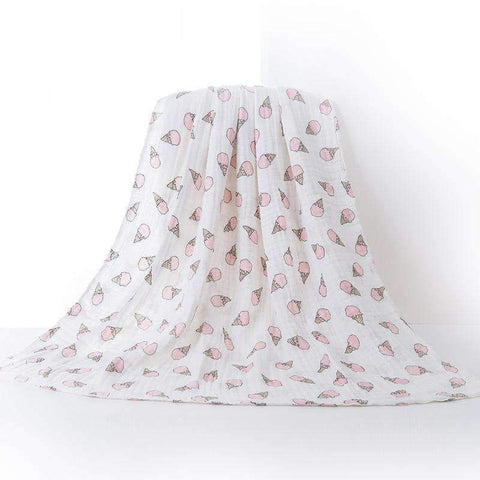 Muslin Swaddle Blankets With Cute Baby Friendly Cartoon Prints gallery 3