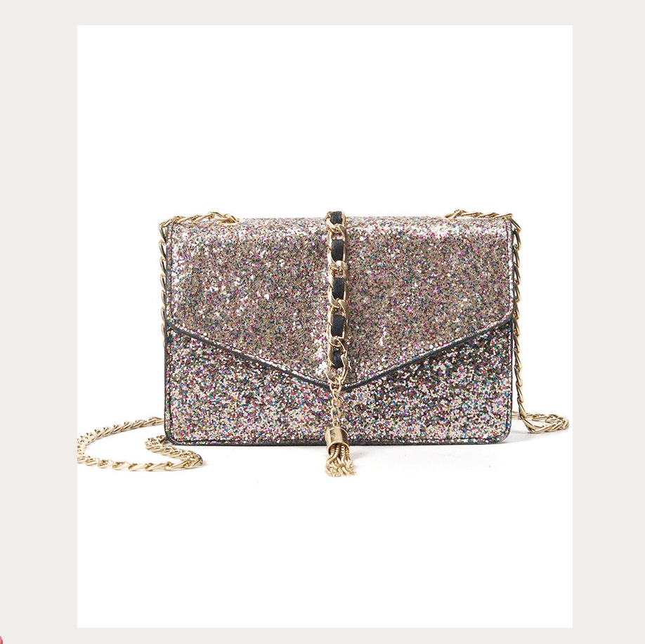 Shiny Sequins Glitter Evening Shoulder Bag