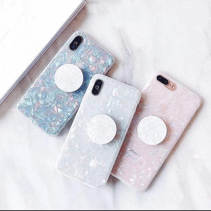 Silicone Gel Fantasy Shell Vibe Phone Case For Iphone With Holder