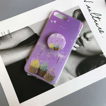 Romantic Purple Stars Phone Case for Apple iPhone