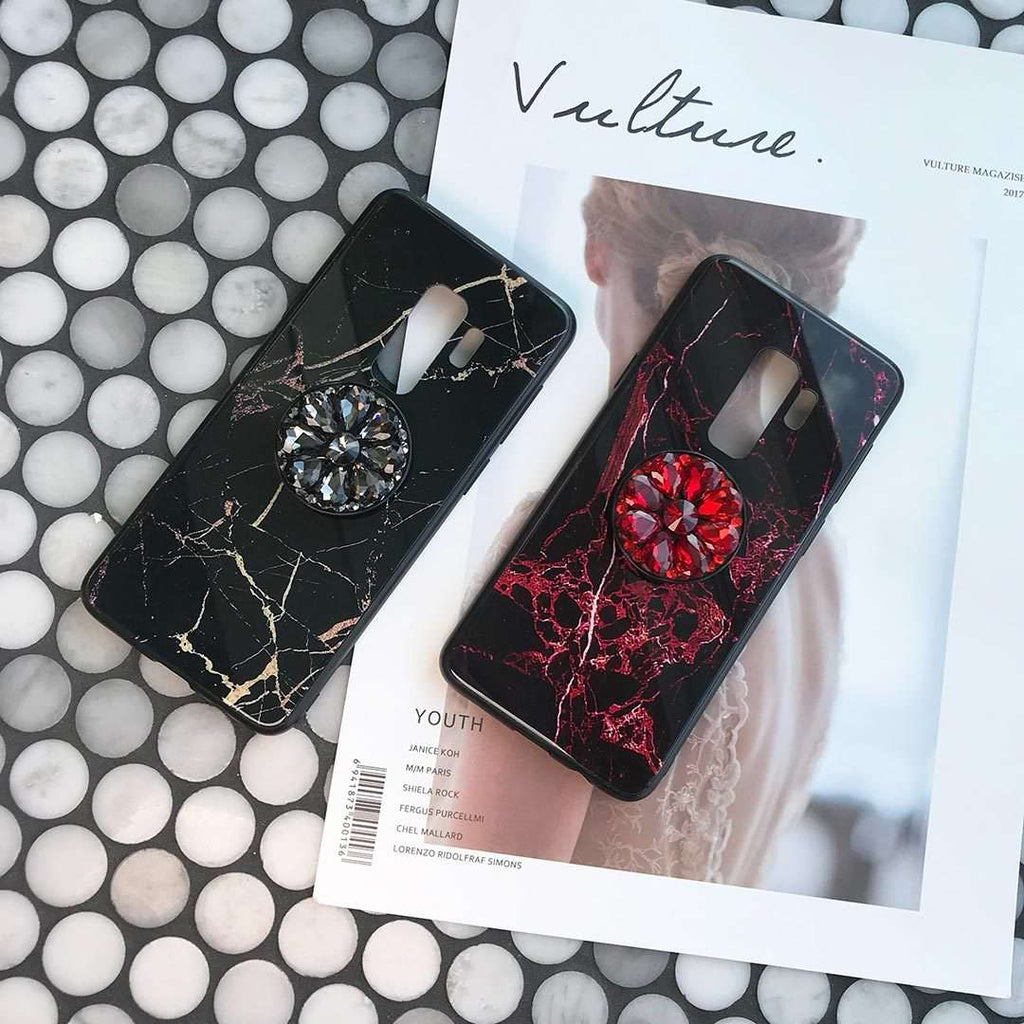 Luxury Marble Pattern Phone Case for Samsung with Phone Holder