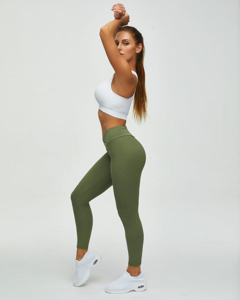 High Waist Butt Lifting Seamless Textured Leggings gallery 9