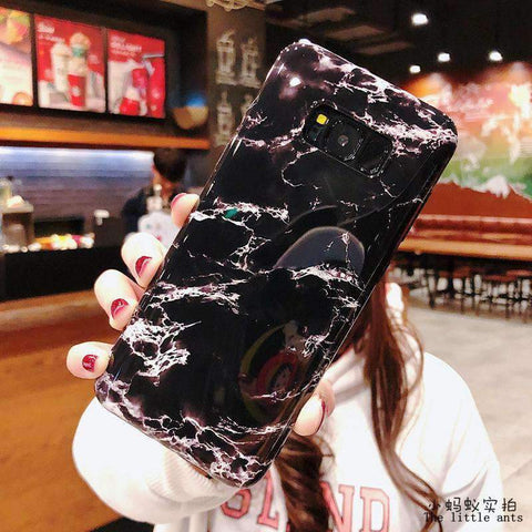 Anti-Fall Black&White Marble Phone Case for Samsung gallery 3