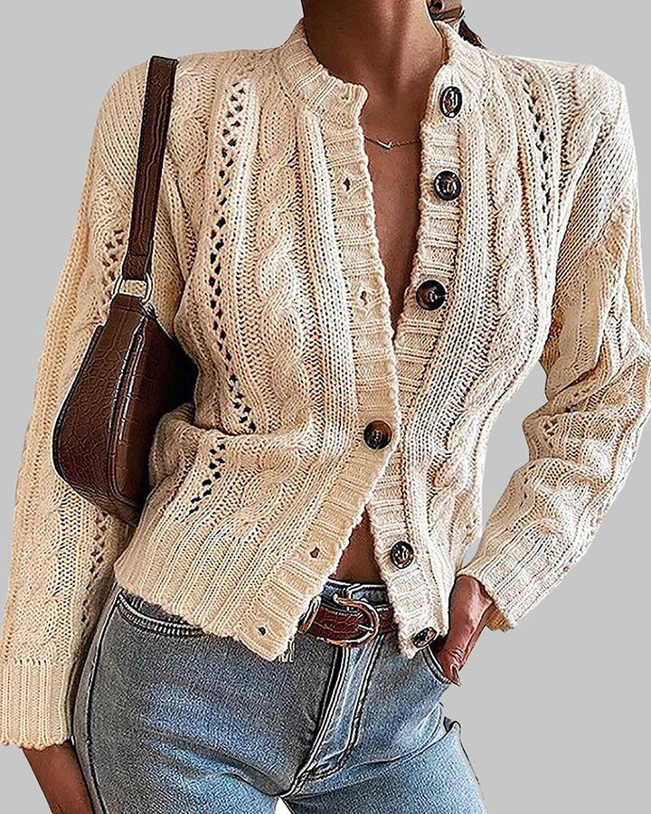 Chunky Knit Button Front Sweater gallery 1