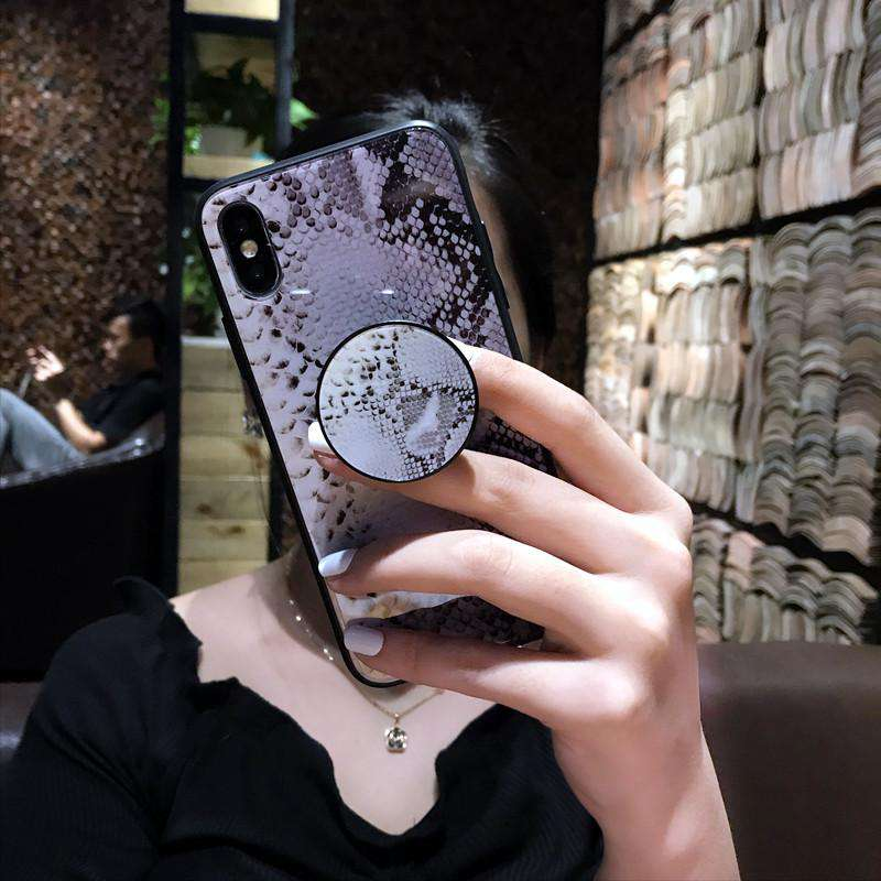 Serpentine Pattern iPhone Case with Phone Holder