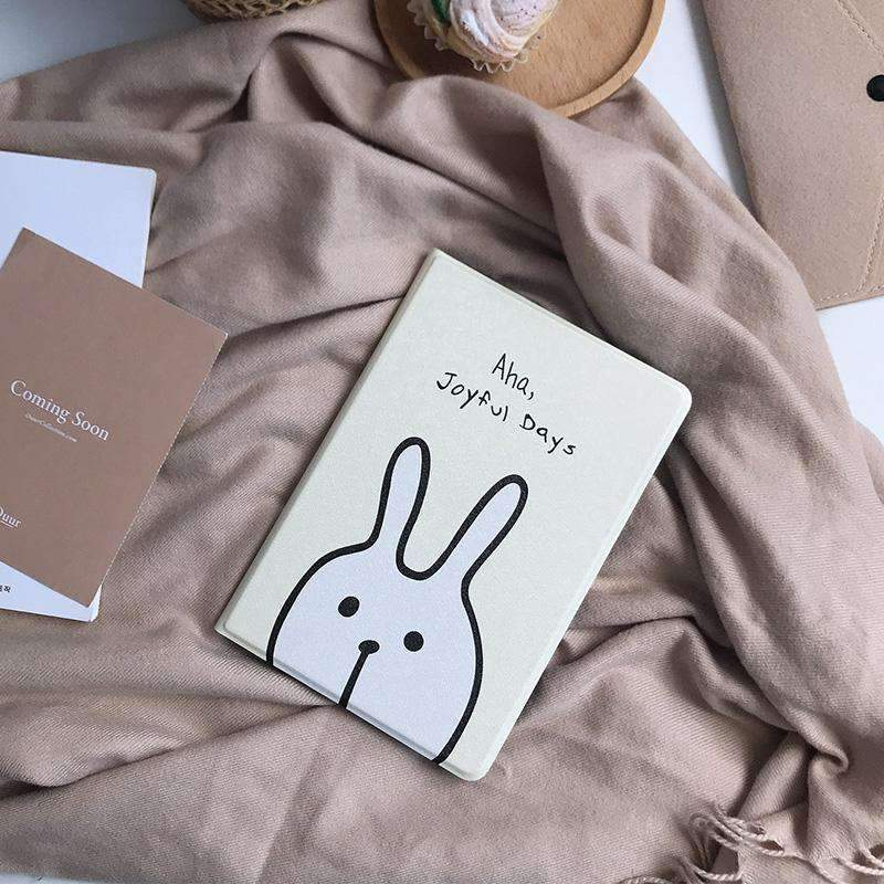 Cute Rabbit Painted Apple iPad Cover Case