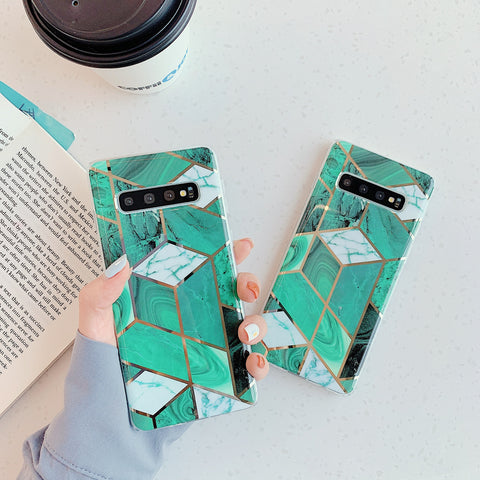 Marble Electroplated Detail Phone Case for Samsung gallery 1