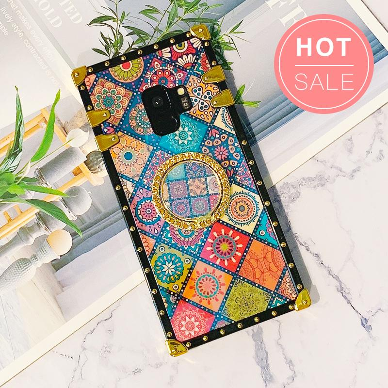 Ethnic Style Color Square Phone Case For Samsung with Phone Holder