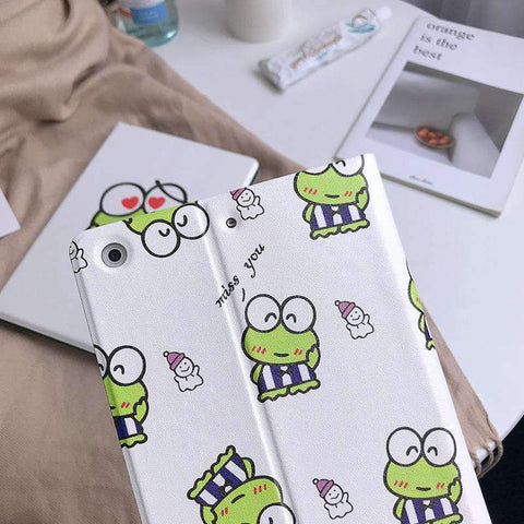 Cute Frog Painted Apple iPad Cover Case gallery 4