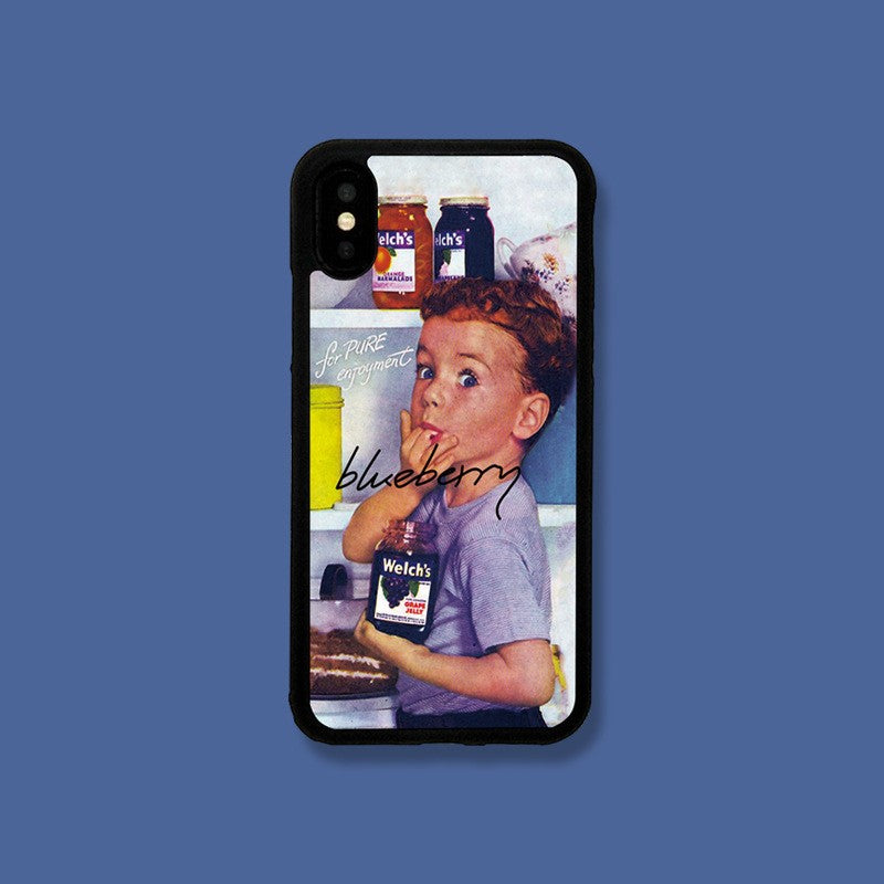 Little Boy Oil-Paint-Style Pattern iPhone Case