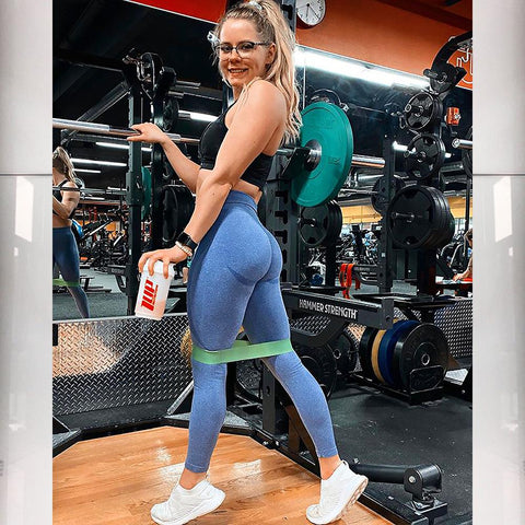 High Waist Butt Lifting Breathable Seamless Workout Leggings gallery 3