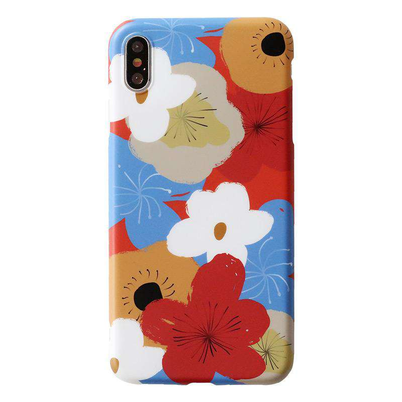 Original Design Floral Print Phone Case For All iPhone