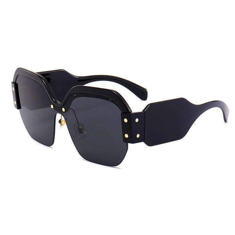 Chic Mirrored Flat Lens Wide Frame Sunglasses gallery 6