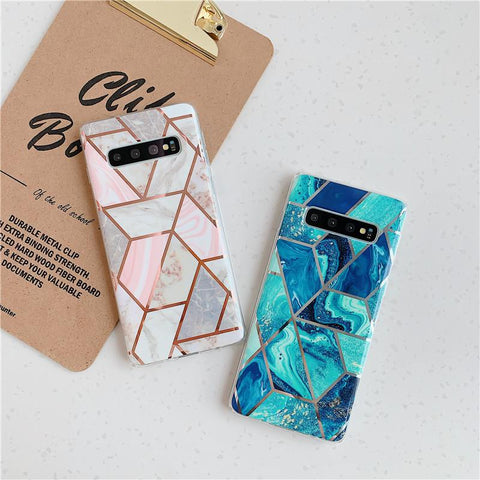 Geometry Marble Patch Phone Case for Samsung gallery 2