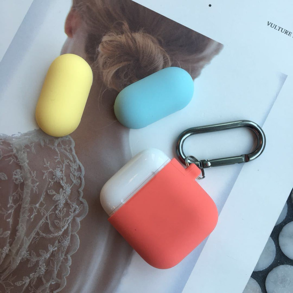 Contracted Patch Color Earphone Case for Apple Airpods