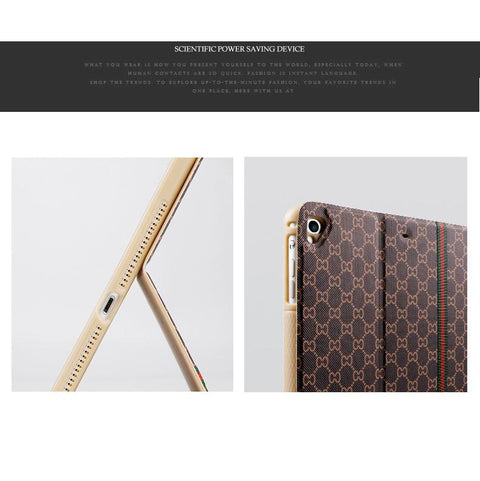 Latticed Grain Foldable iPad Cover Case gallery 5