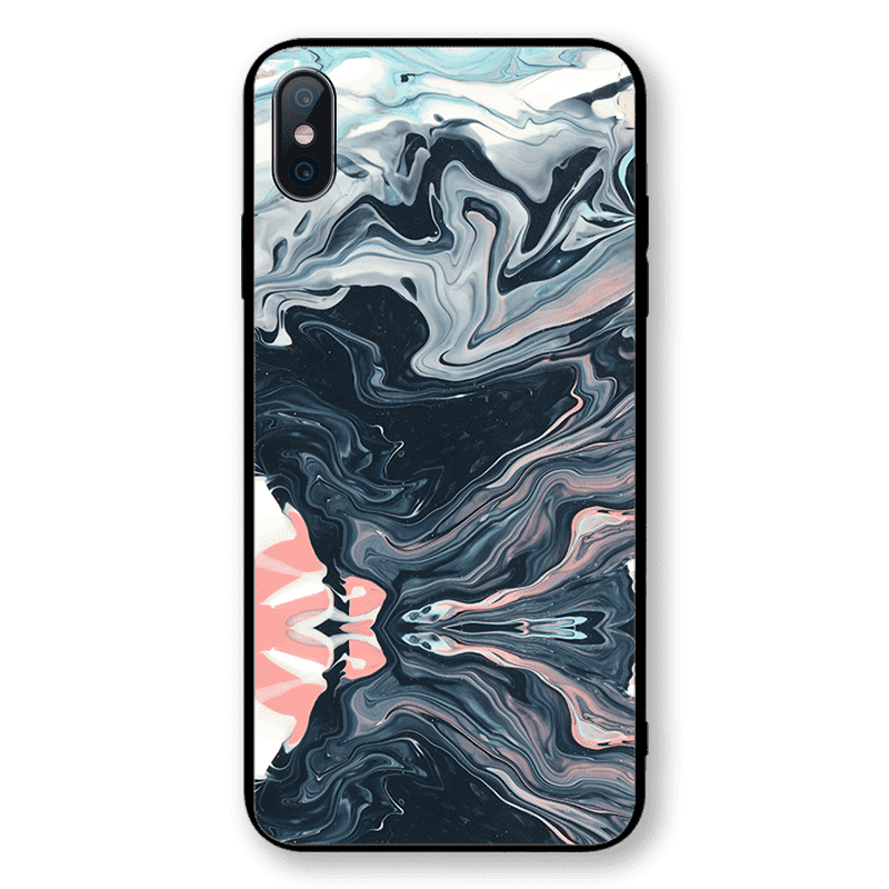 Color Patch Slippery Ink Print Phone Case for All iPhone